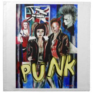 arte, música de punk rock, moda y estilo servilletas