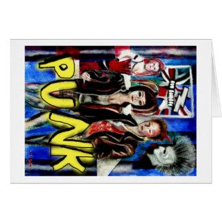 arte, música de punk rock, moda y estilo felicitaciones