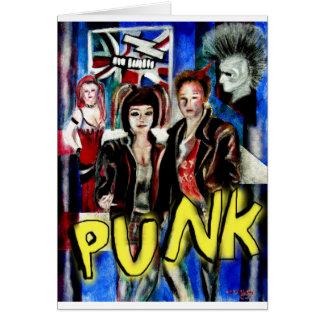arte, música de punk rock, moda y estilo felicitación