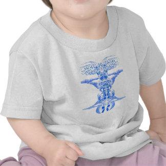 Arte musical de la guitarra azul por Valxart com Camiseta