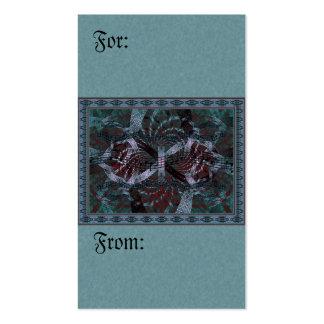 Arte musical del fractal del día de fiesta tarjetas de visita