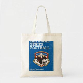 Arte nacional del poster de la serie del fútbol bolsas