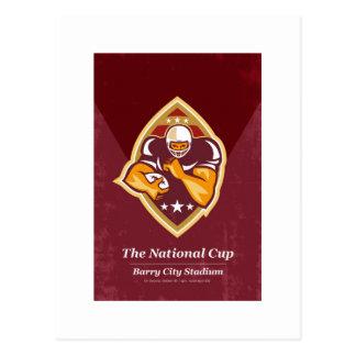 Arte nacional del poster de la taza del fútbol ame tarjeta postal