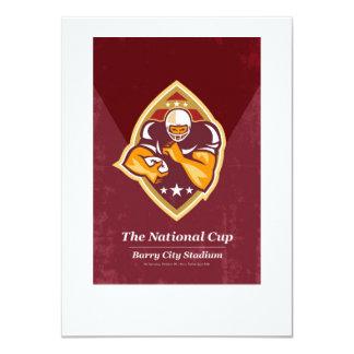"""Arte nacional del poster de la taza del fútbol invitación 4.5"""" x 6.25"""""""
