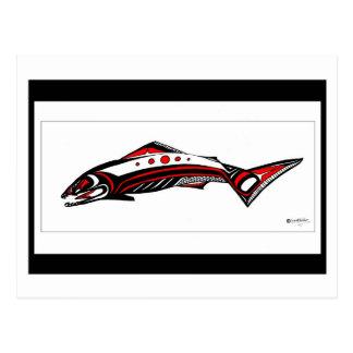 Arte nativo de color salmón tarjetas postales