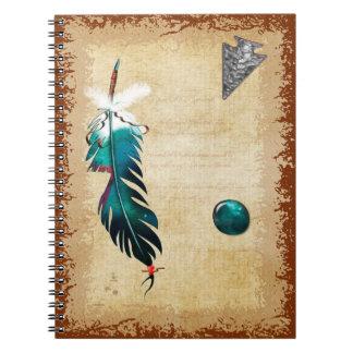 Arte nativo del nativo americano de las reflexione libreta