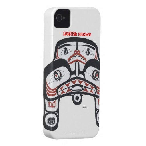 Arte nativo, Haida, diseño de las lijas iPhone 4 Fundas