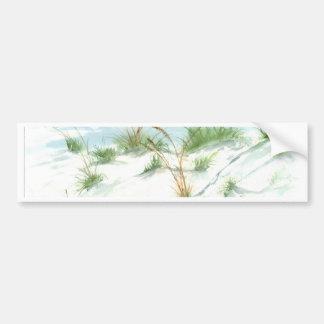 Arte náutico de la acuarela del paisaje marino de  pegatina de parachoque