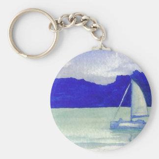 Arte navegante fácil tranquilo del océano de Crick Llavero Redondo Tipo Pin