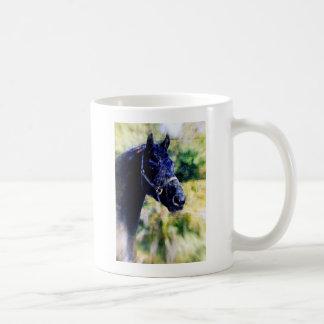 Arte negro de Digitaces del caballo Taza