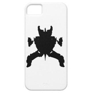 Arte negro de Rorschach en la caja blanca del iPho iPhone 5 Case-Mate Fundas