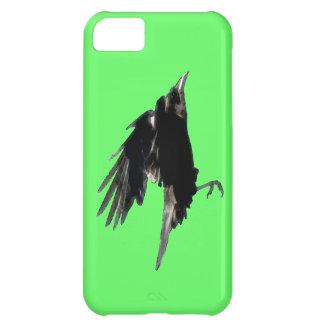 Arte negro del cuervo que vuela para Birdlovers Funda Para iPhone 5C