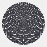 Arte negro del fractal etiquetas redondas