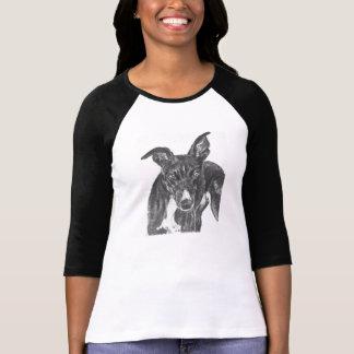 Arte negro del galgo t shirts