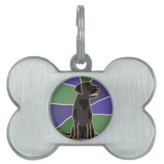 Arte negro del labrador retriever placa mascota