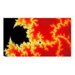 Arte negro y anaranjado del fractal plantillas de tarjetas de visita