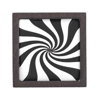 Arte negro y blanco contemporáneo cajas de recuerdo de calidad