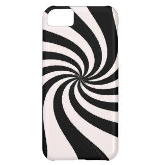 Arte negro y blanco contemporáneo funda para iPhone 5C