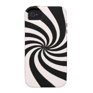 Arte negro y blanco contemporáneo iPhone 4 carcasa