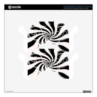Arte negro y blanco contemporáneo mando PS3 calcomanía