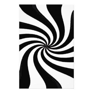 Arte negro y blanco contemporáneo papeleria de diseño