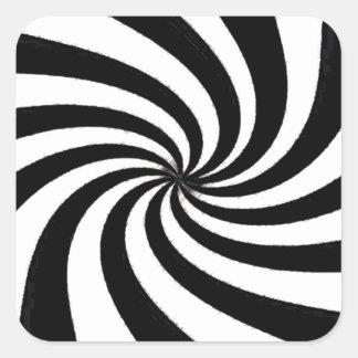 Arte negro y blanco contemporáneo pegatina cuadrada