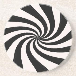 Arte negro y blanco contemporáneo posavasos manualidades