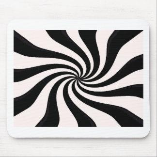 Arte negro y blanco contemporáneo tapetes de ratones