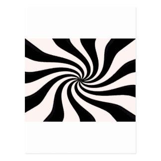 Arte negro y blanco contemporáneo tarjeta postal