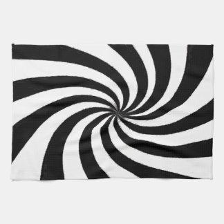 Arte negro y blanco contemporáneo toalla