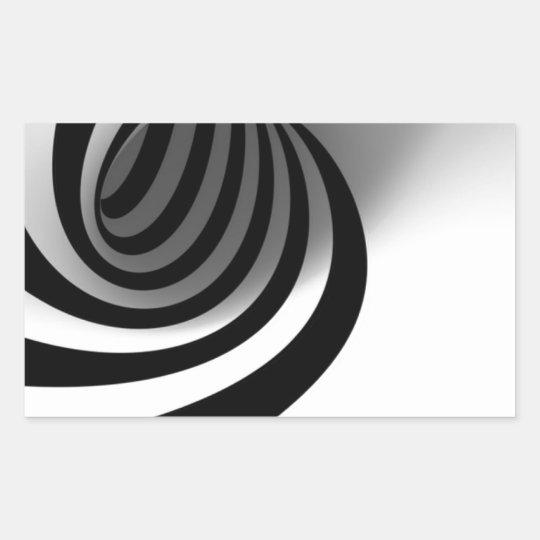 Arte negro y blanco vol. 2 pegatina rectangular