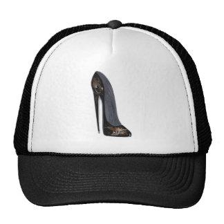 Arte negro y de cobre del tacón alto del zapato de gorros bordados