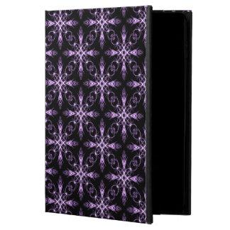 Arte negro y púrpura floral gótico del fractal