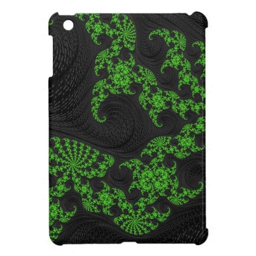 Arte negro y verde del fractal