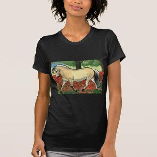 ARTE noruego del CABALLO del fiordo Camiseta