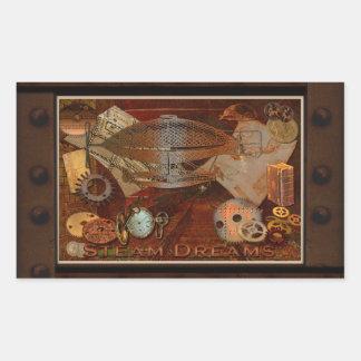 Arte nostálgico del collage del Victorian de Pegatina Rectangular