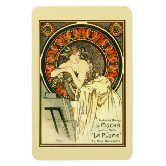 Arte Nouveau Alfons Mucha, anuncio de la cartera Imanes Flexibles