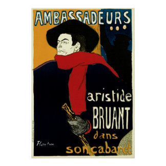 Arte Nouveau Aristide Bruant Ambassadeurs del vi Poster