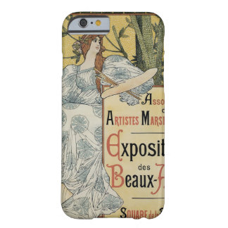 Arte Nouveau, artista del vintage de la mujer con Funda De iPhone 6 Barely There