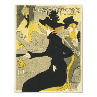 Arte Nouveau, café del vintage del club nocturno Invitación 10,8 X 13,9 Cm
