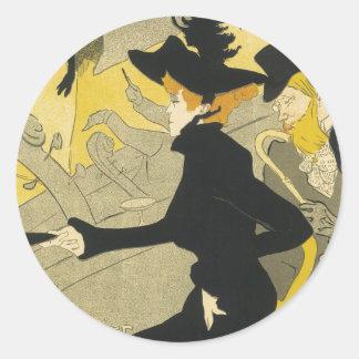 Arte Nouveau, café del vintage del club nocturno Pegatina Redonda