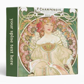 """Arte Nouveau, Champenois del vintage de Alfonso Carpeta 1 1/2"""""""