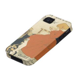 Arte Nouveau, chica joven del vintage que da a Vibe iPhone 4 Fundas