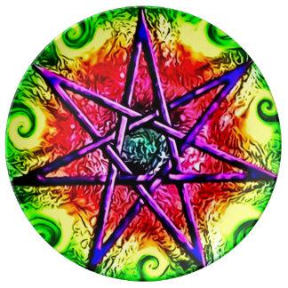 Arte Nouveau de la estrella del Faerie Platos De Cerámica