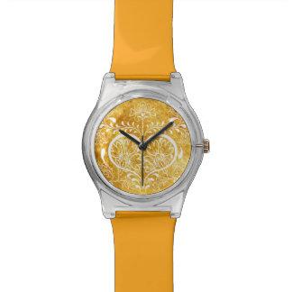 Arte Nouveau de la flor de Swirly del vintage Reloj De Mano