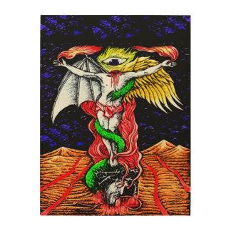 Arte Nouveau de la profecía del Antichrist Impresiones En Madera