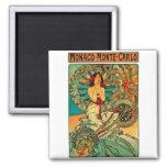 Arte Nouveau de Mónaco Monte Carlo Iman Para Frigorífico