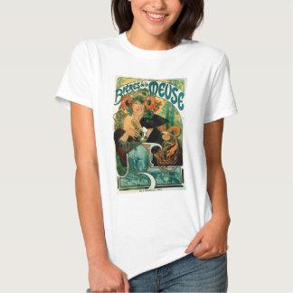 Arte Nouveau de Mucha:  La la Mosa de Bieres de Camisas