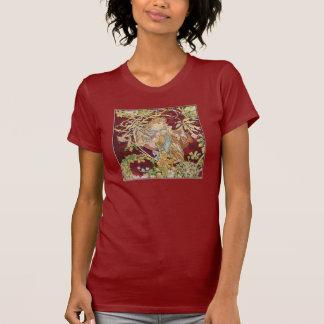 Arte Nouveau de Mucha: Mujer con la margarita Camiseta