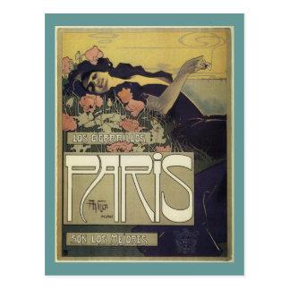 Arte Nouveau de París del ~ del chalet de Aleardo Tarjetas Postales
